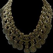 1960s Brass Statement Necklace