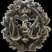 Large Sterling Balanced Scaled (Libra) Pendant