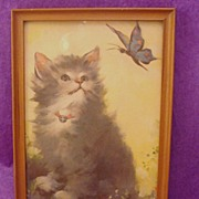 Delightful Kitten ~ Cat Print Framed