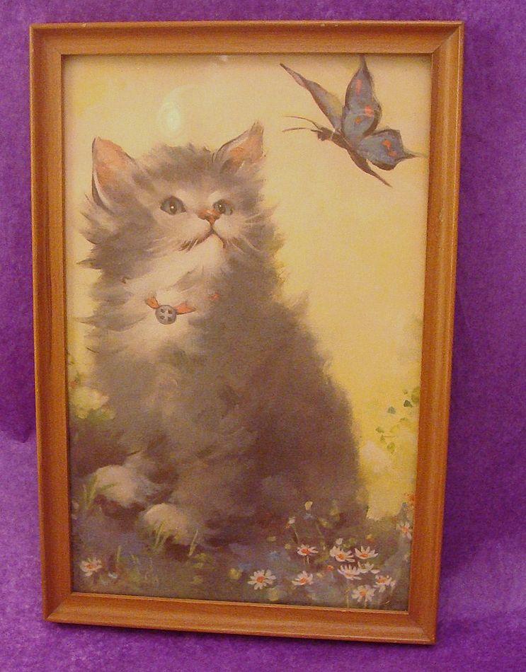 Delightful Kitten ~ Cat Print Framed