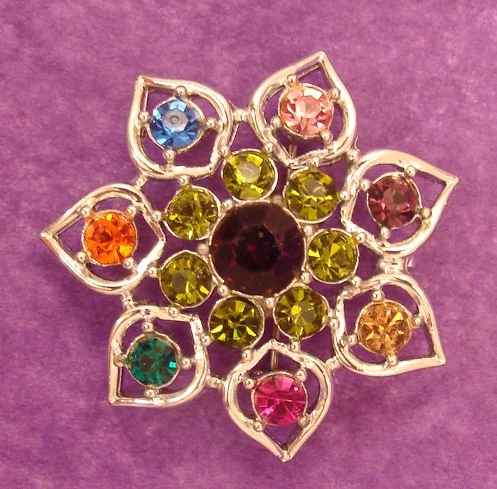 Cheerful EMMONS Signed Colorful Pin ~ Pendant