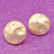 Shimmering Classic Baroque Faux Pearl Dome Earrings