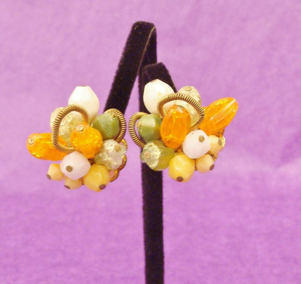 Vintage Glass Beads and Babbles Earrings