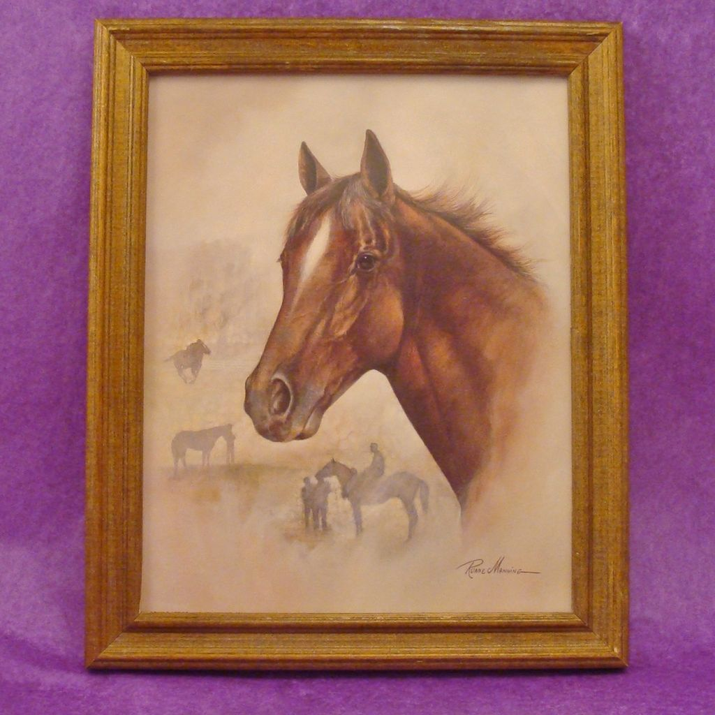 Gorgeous Horse ~ Equine Lithograph by Ruane Manning Dated 1993