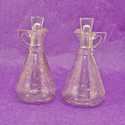 Retro Mid-Century Gold Splatter Cruet Set