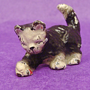 Adorable Cold Painted Metal Playful Kitty Cat