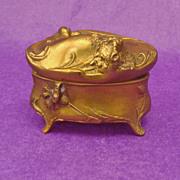Vintage Brass Jewelry Box