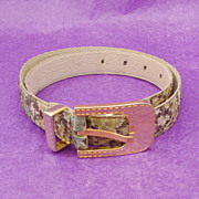 Breathtaking 1980's CHRISTIAN DIOR Snakeskin Belt