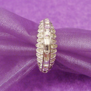 Attwood & Sayer Diamanté Art Deco Style Ring