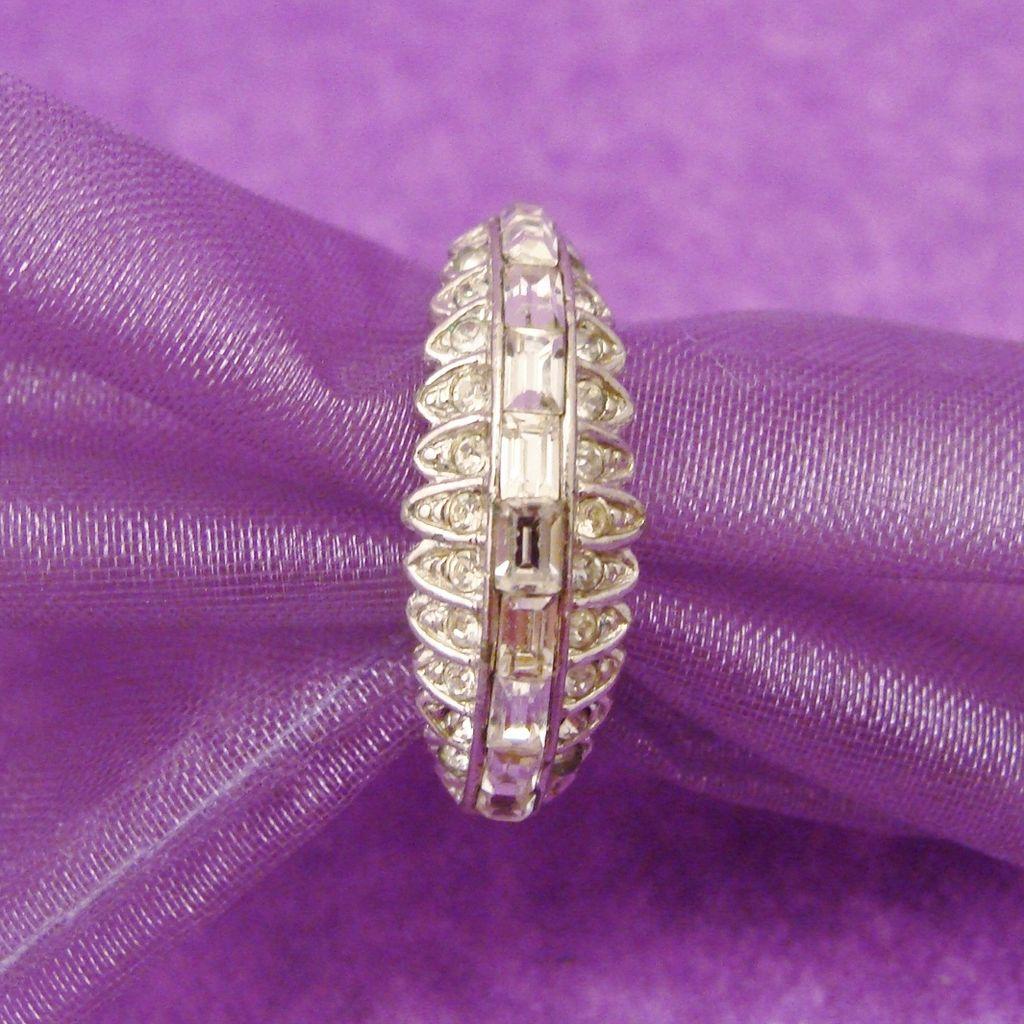 Attwood & Sayer Diamanté Art Deco Style Ring