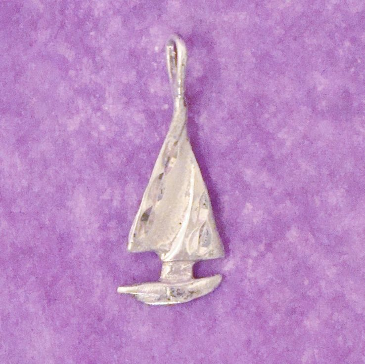 1980's Sterling Silver Sail Boat ~ Nautical Charm / Pendant