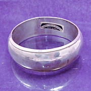 Chunky 1980's Carol for Eva Graham Silver Plated Wide Cuff Bracelet