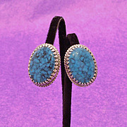 Whiting & Davis Faux Turquoise Earrings