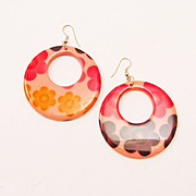 Groovy Flower Power Hoop Earrings