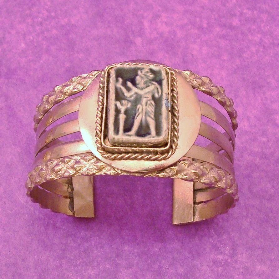 1970's Egyptian Revival Cuff Bracelet