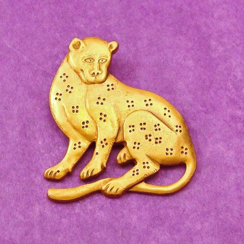 MMA ~ Metropolitan Museum of Art 24K Gold Plated Leopard Big Cat Pin