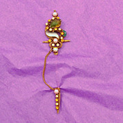 Incredible FLORENZA Jeweled Sword Pin