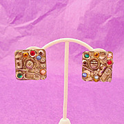 Designer Signed SORRELLI Chunky & Bold Earrings