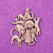 Whimsical Feline Fancier Cat Pin