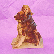 The Winslow Papers Saint Bernard Dog & Boy Stand Alone Die Cut