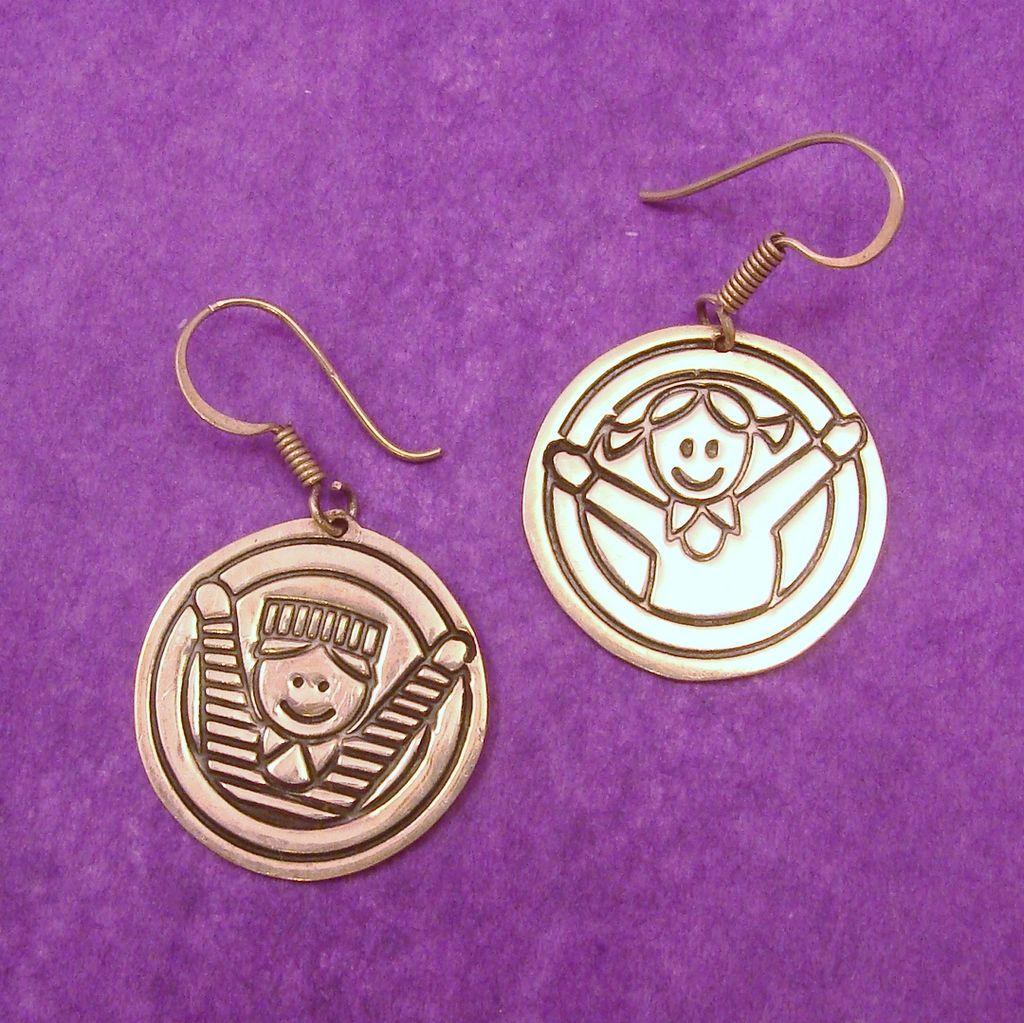 Sterling silver children earrings for education first steps program