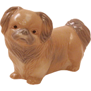 Retired 1981 Signed Zaphir Spain Pekingese Dog Porcelain Figurine