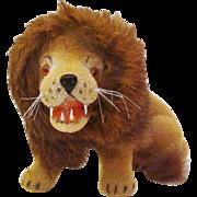 Rare Kunstlerschutz Large Sitting Lion with Teeth