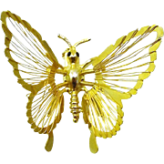 Whimsical Butterfly Pin with Articulated Wings