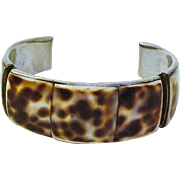 Stunning Natural Tiger Shell Cuff Bracelet