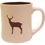 2008 Starbucks Embossed Organic Yukon Blend Buck Deer ~ Elk ~ Stag Coffee Mug