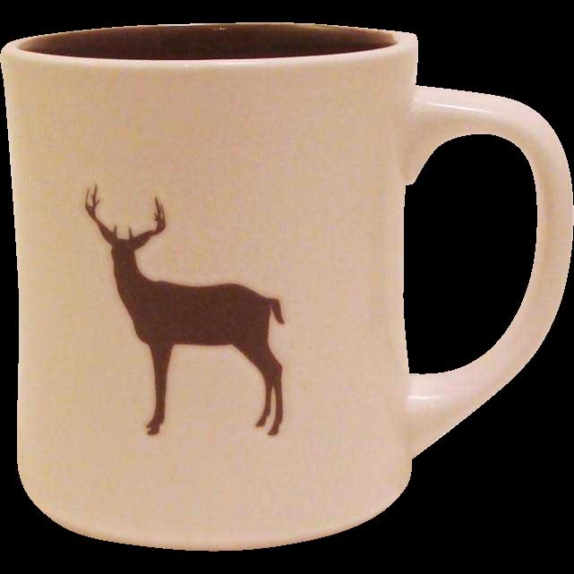 2008 Starbucks Embossed Organic Yukon Blend Buck Deer ~ Elk ~ Stag Coffee Mug