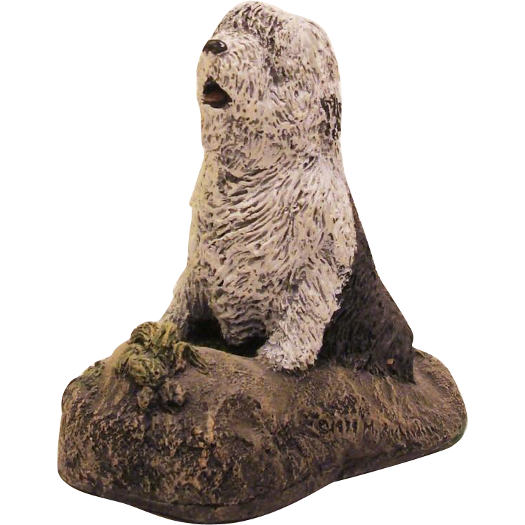 Cold Cast Bronze Kennel Collection Old English Sheepdog by Marsha A. Richardson