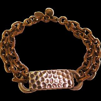 Designer Marjorie Baer San Francisco Signed Mixed Medal Modernist Bracelet