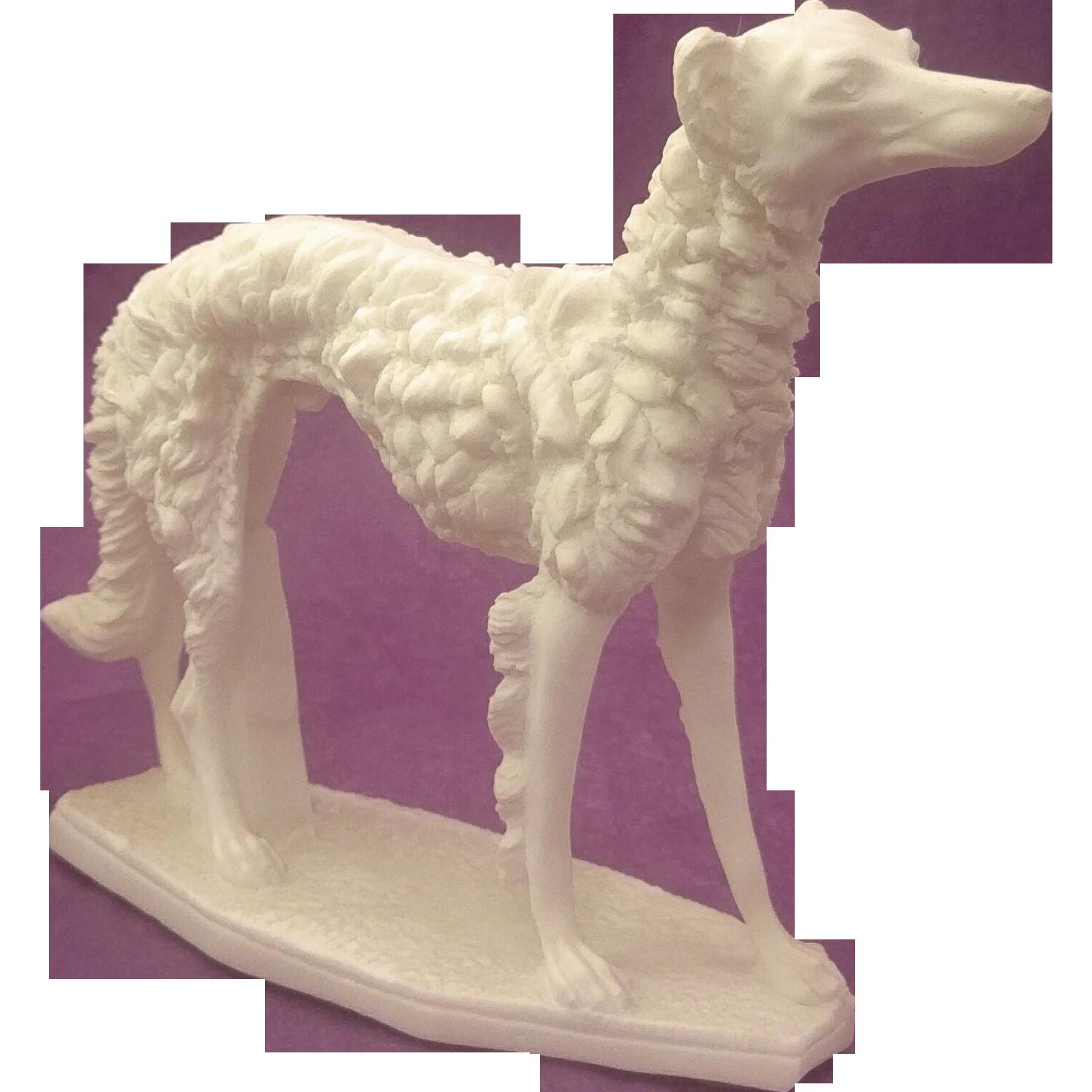 Santini Borzoi Russian Wolfhound Dog Art Deco Style Statue