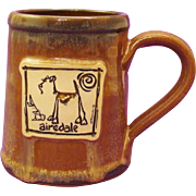 50% OFF Airedale Terrier Dog Hand-Thrown Stoneware Mug by Deneen Pottery and Art by McCartney