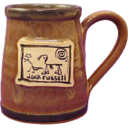 ON HOLD ... Jack Russell Terrier Dog Hand-Thrown Stoneware Mug by Deneen Pottery and Art by McCartney