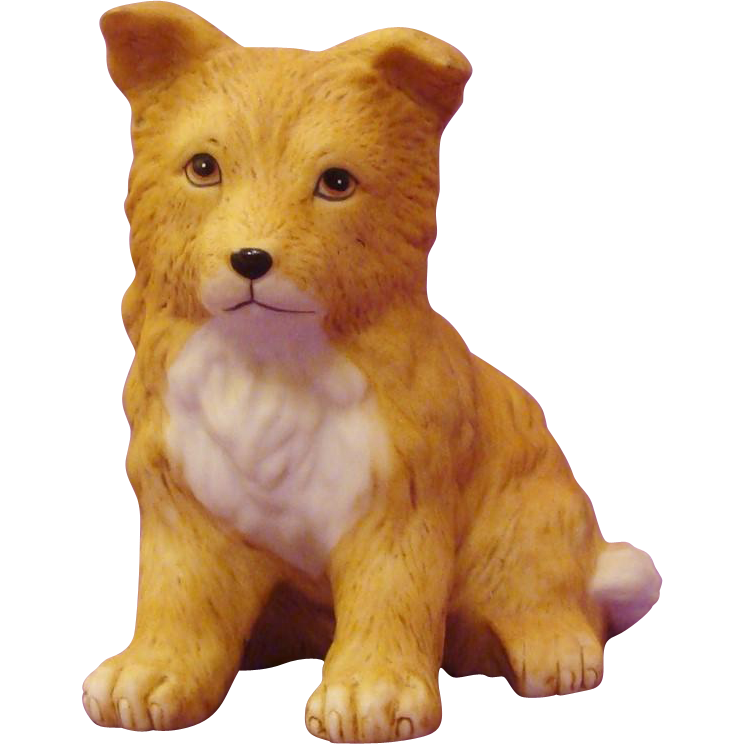 Adorable Collie Puppy Dog Figurine by Homco
