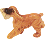 Hagen Renaker by Maureen Love Cocker Spaniel Dog with Newspaper Spring 1956-fall 1957