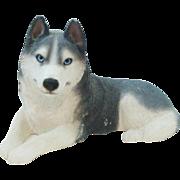 Full Sized Original 1987 Sandicast Siberian Husky Dog by Sandra Brue