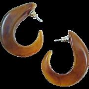 Mesmerizing Marble Vintage Tribal Earrings