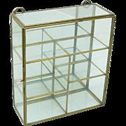 Charming Brass, Glass & Mirror Hanging Trinket Display Case