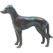 Elegant Metal Greyhound Dog