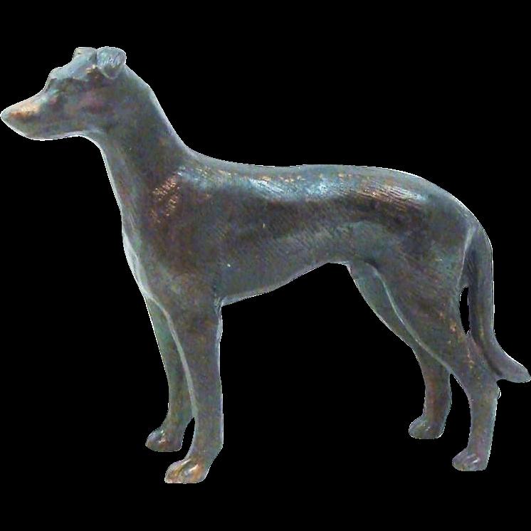 Elegant Metal Greyhound Dog