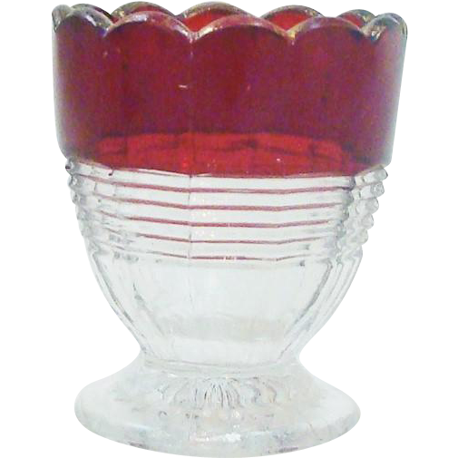 Ruby Red Flash Toothpick Holder