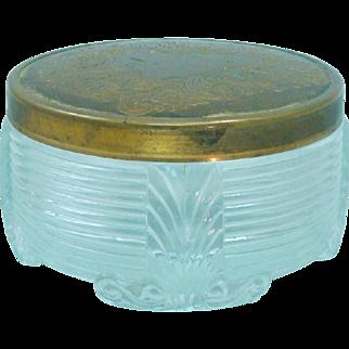 Art Deco Glass & Brass Dresser Jar