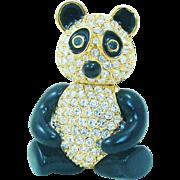 Signed Joan Rivers Articulated Panda Bear Pin