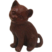 Adorable Red Mill Mfg. Kitten Statue