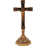 Ornate Free Standing Table Top or Altar Crucifix Cross