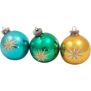 Hand Blown Silvered Glass Christmas Ornaments Made in Austria