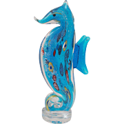 Incredible Murano Art Glass Seahorse Sculpture